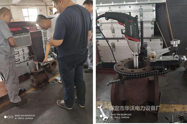 华沃电力阀门研磨机麦太保电机档位操作方法